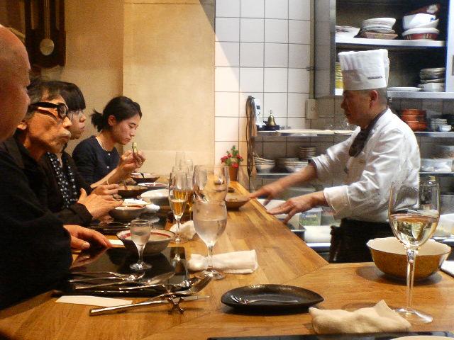 京都で夕食