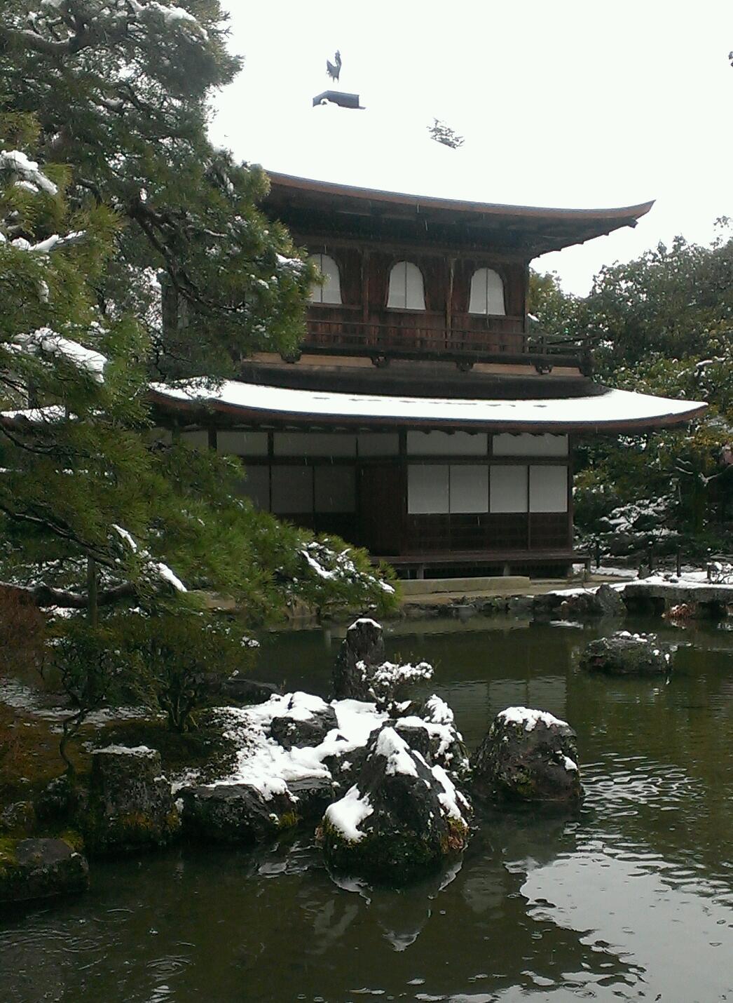 白銀の銀閣寺